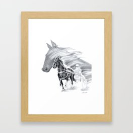 Trotting Up A Storm Framed Art Print