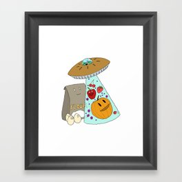 Pie UFO Framed Art Print