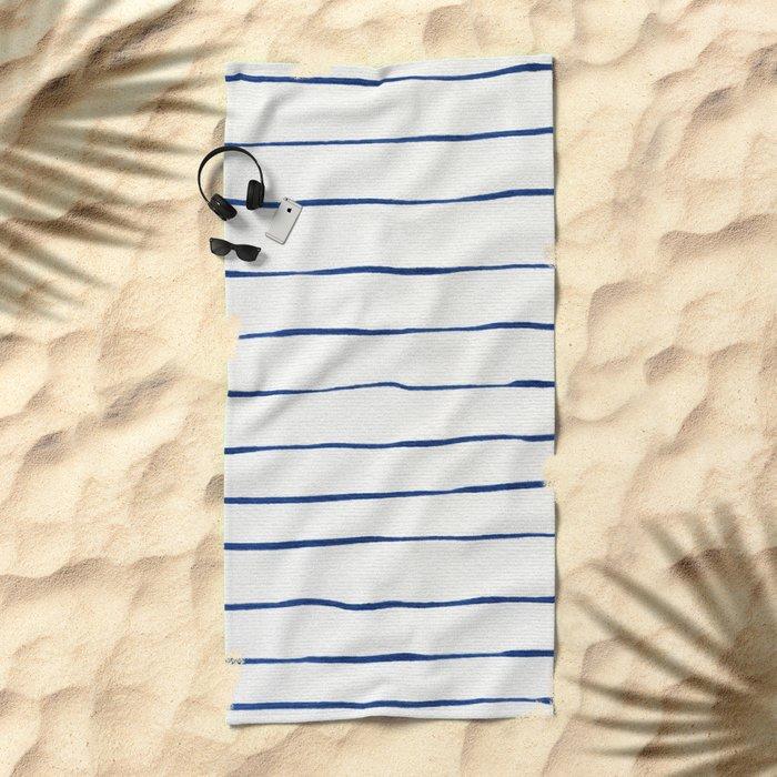 Blue Stripes Beach Towel