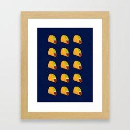 Pixel Taco Framed Art Print