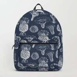 Cactus Flowers White Backpack