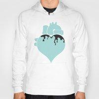 pastel goth Hoodies featuring Pastel Goth Heart by Minette Wasserman