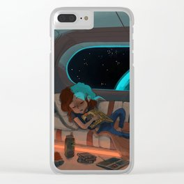 Nap in Space Clear iPhone Case