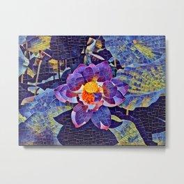 Lotus Mosaic Metal Print