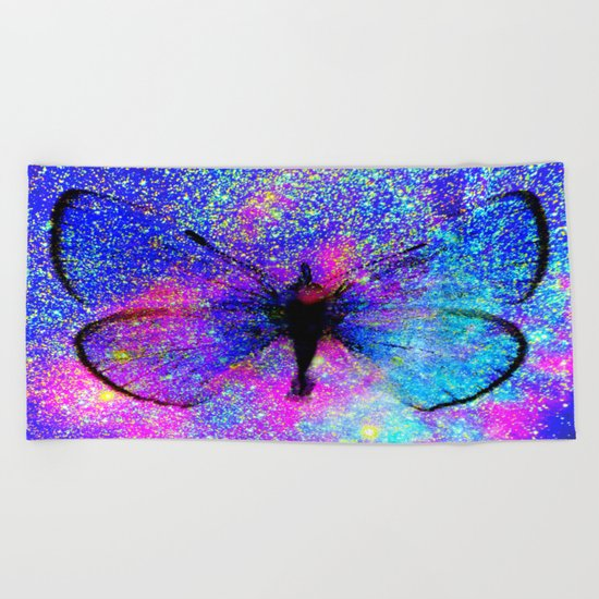 Celestial Butterfly : Bright & Colorful Beach Towel