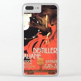 Vintage poster - Distillerie Italiane Clear iPhone Case