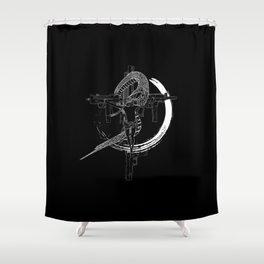 Jesus snake savage Shower Curtain