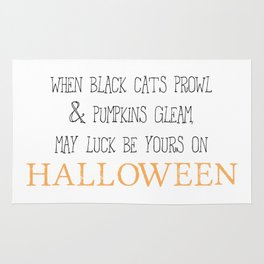 May luck be yours on Halloween Rug