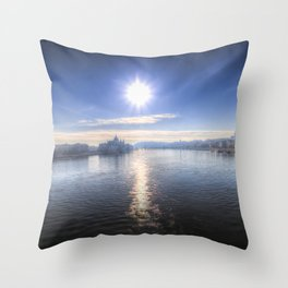 Budapest City View Throw Pillow