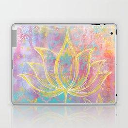 Layered Gold Lotus Painting Laptop & iPad Skin