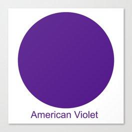 American Violet Canvas Print