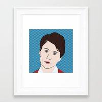 ezra koenig Framed Art Prints featuring Ezra Koenig by LAUNCH