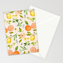 LOVELY LEMONS IN PINK Stationery Cards