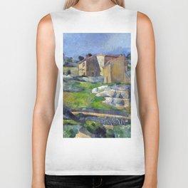 1883 - Paul Cezanne - Houses in Provence, The Riaux Valley near L'Estaque Biker Tank