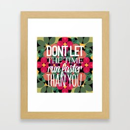 FLOWER TIME Framed Art Print