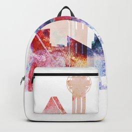 Dallas Texas City Pink Skyline Poster Backpack