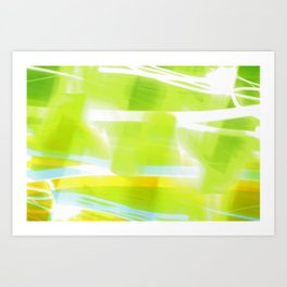 In Between Yellow, Green and Blue - JUSTART © Art Print
