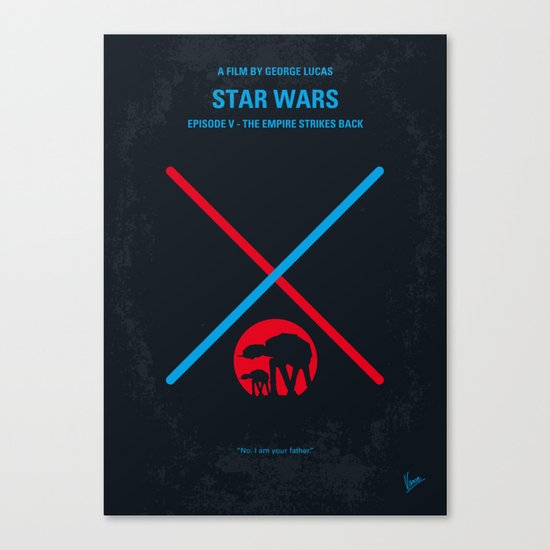 No155 My STAR Episode V The Empire Strikes Back WARS minimal movie poster Canvas Print