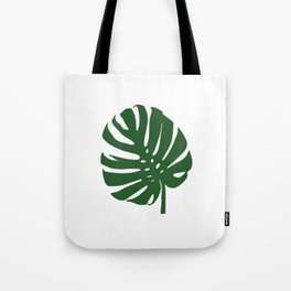 monstera in forest green Tote Bag
