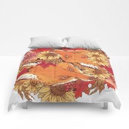 Autumn Fox Bloom Comforters
