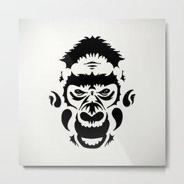 Tribal Gorilla Metal Print