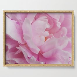 Floral Fun - Peony in pink 4 soft and billowy Serving Tray