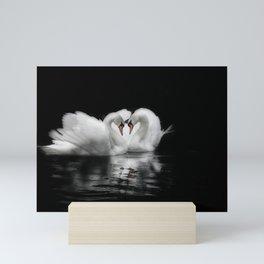 swan lovers Mini Art Print