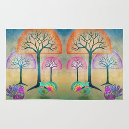 Moon Bird Forest Rug