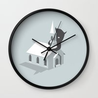 monster Wall Clocks featuring Monster! by SpazioC