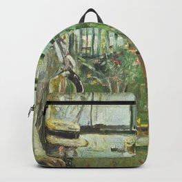 Berthe Morisot - Eugne Manet on Isle of Wight Backpack