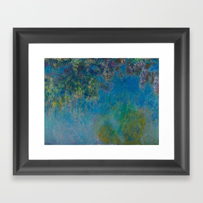 Wisteria by Claude Monet 1925 Gerahmter Kunstdruck