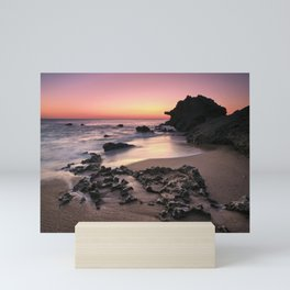 Roche Reefs At Sunset. Cadiz Mini Art Print