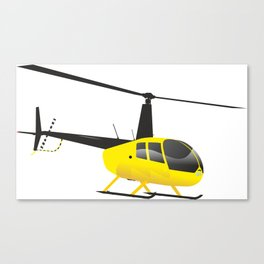 Light Black and Yellow Helicopter Canvas Print