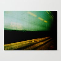 train Canvas Prints featuring train by sustici