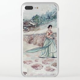 Korean Winter (Watercolor painting) Clear iPhone Case