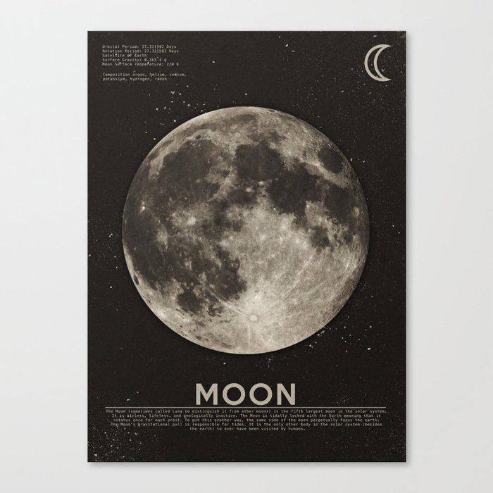 The Moon Canvas Print