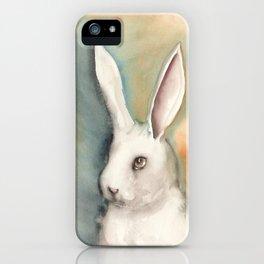 Portrait of a White Rabbit iPhone Case