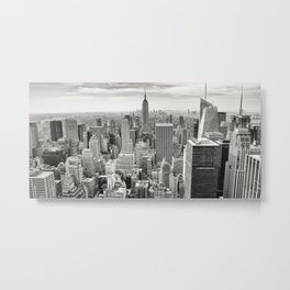 New York Skyline (Brooklyn, Queens, Manhattan) Metal Print