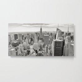 New York Skyline (Brooklyn, Queens, Manhattan) Metal Print