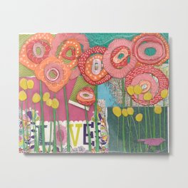 Love Blossoms Metal Print