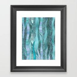 Precious Aqua And Turquoise Glamour Framed Art Print
