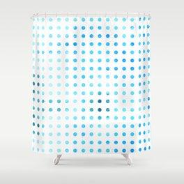 Polka Dot-Blue Shower Curtain