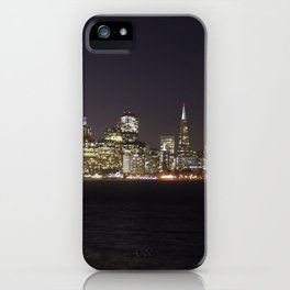 SF at night as seen from Treasure Island. iPhone Case