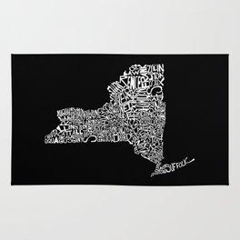 Typographic New York Rug