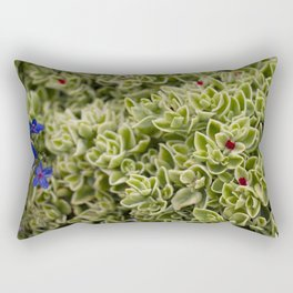 Succulent Flower Rectangular Pillow