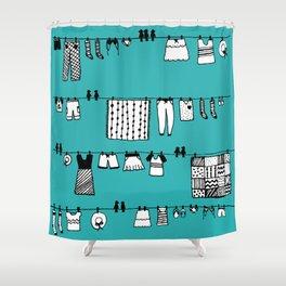 Laundry Doodle Shower Curtain