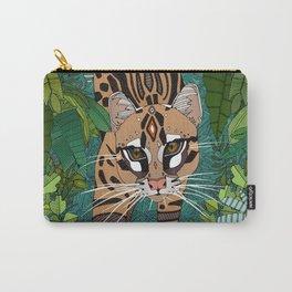 ocelot jungle green Carry-All Pouch