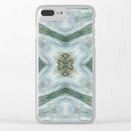 Seamless Kaleidoscope Colorful Pattern VI Clear iPhone Case