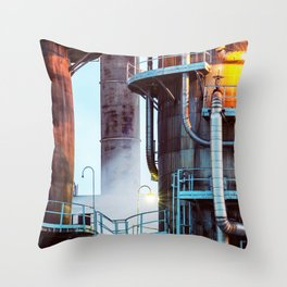 Steaming Pipes Throw Pillow
