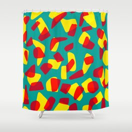 happy shapes Shower Curtain